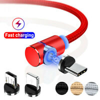 360° around Magnetic Type-C Micro USB Charging Charger Cable For iPhone Samsung