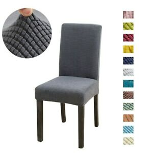 solid Jacquard Chair Covers Spandex For Wedding Dining Room Office Banquet house