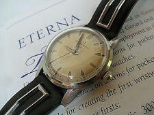 All Original Clean Vintage S/S 1960's Eterna Eterna-matic Automatic Swiss Watch