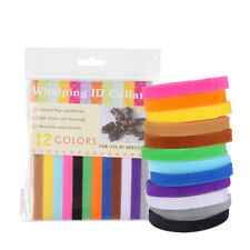 12X Waterproof Adjustable Newborn Puppy Whelping Pet Kitten ID Collar Band UK