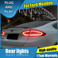 For Ford Fusion Dark / Red LED Rear Lamps Assembly LED Tail Lights 2013-2015