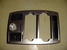05 06 07 Chrysler 300 300C Radio Heater Clock Trim Bezel Carbon Fiber Look
