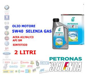OLIO MOTORE METANO GPL 2 LT SELENIA MULTIPOWER 5W40 GAS ACEA A3/B4/C3 API SM