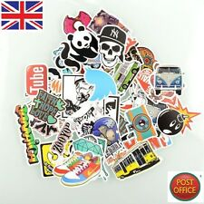 50 Pièces Autocollants Skateboard portable bagages vélo stickers mix lot cool