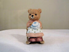 Homco Bear in Rocking Chair #1470 Figurine