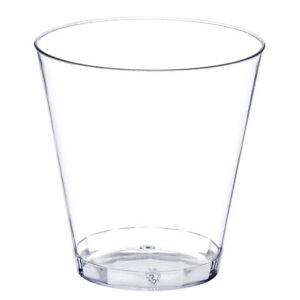50ct. 2 oz Clear Hard Plastic Shot Glasses Bar Catering Disposable Cups Bulk