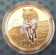 Canada 2013 $20 Wolf--Pure .9999 Silver Coin