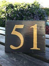 Número De Casa Puerta Cartel Placa de pizarra 17.5 X 13.5cm