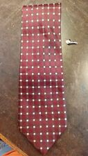 Claiborne Red Brown Plaid Thick Designer Mens Necktie Free Shipping