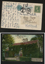 US  Falmouth , Mass post card to Scotland  postage due           KL0421