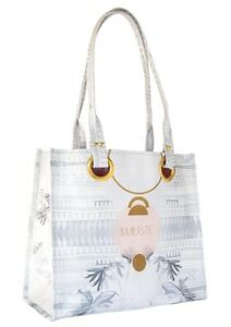 Papaya Art E1 Women's Travel 15x14in Luxe Tote Bag - Tropical Namaste AC0054