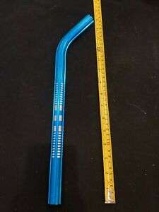 "Old school BMX bicycle 400mm seatpost fluted 22.2mm 7/8"" BRIGHT BLUE"