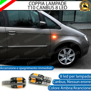 COPPIA LAMPADE FRECCE LED LATERALI FIAT IDEA T10 CANBUS NO ERRORE