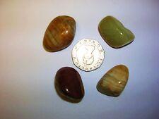 Onyx, Green Crystal Healing Tumblestone - Longevity, Tension, Stability.