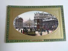 LONDON Mansion House+Bank of England Raphael Tuck+Sons Framed Gem Glosso §A2176