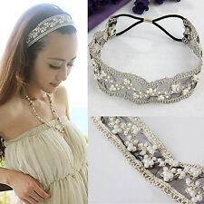 Best Lace Pearl Headhand Hairband Head Band Wrap Women Fashion Hair Accessories