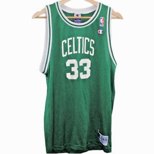 O128 Champion Boston Celtics Larry Bird #33 Basketball Jersey NBA Men's Size XL