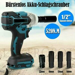 """Cordless Impact Wrench 1/2"""" Brushless Driver Torque Replace For Makita Battery"""