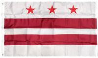 3x5 Embroidered Washington DC Flag District of Columbia Nylon 3'x5' Grommets