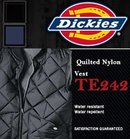 Dickies Men's Nylon Vest Jacket, TE242 Diamond Quilted Lightweight (3 colors)