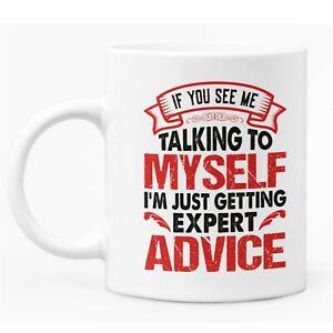 Funny Sarcastic Caption Mug White Ceramic Coffee / Tea Mug Gift For Him or Her