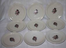 Rare Vintage Cherubs Angel Plates Bowl Delco, Homer Laughlin China - Lot of 9
