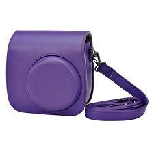 Vintage Camera PU Shoulder Bag Cover Pouch Case Holder for Fujifilm Instax Mini8 Purple