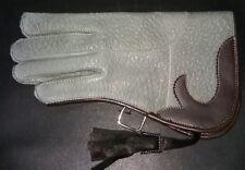 NUOVO doppio in pelle di nabuk Pelle Guanto Falconeria 12 in (ca. 30.48 cm) di Lunghezza Standard Grigio