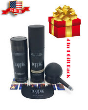 TOPPIK  Dark Brown 27.5g 4 in 1 Gift Pack Comb,Applicator, Spray,Hair fibers