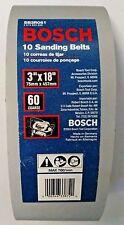 "Bosch SB3R061 3"" x 18""  60 Grit Red Sanding Belts 10 Pack"