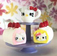 4 PC HELLO KITTY Sandwich DONUT Ice Cream TEACUP Custom Lot Miniature LPS LOL