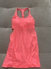 LULULEMON Size 2 Practice Freely Tank Top Bleached Coral Pink Bra Limit