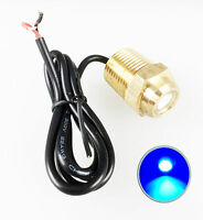 "Pactrade Marine Boat Blue LED Drain Plug 1/2"" NPT Brass Underwater Light 12V"