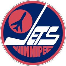 "Winnipeg Jets Vintage NHL Hockey bumper sticker wall decor vinyl decal, 5""x 5"""