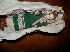 Vintage Porcelain Doll with Original Dress and Packaging