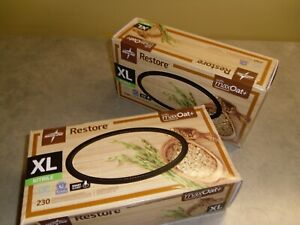 2 boxes Restore powder free Nitrile gloves XL 230 per box OAT6804 Medline