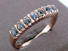 R136 Genuine 9ct Rose Gold Natural Topaz Eternity Ring Stackable Wedding size O