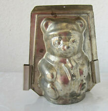 ANTIQUE vintage TIN CHOCOLATE MOLD metal  TEDDY  BEAR  animal