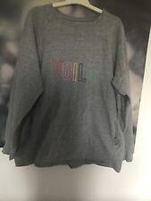 Next Slouch Oversized Grey Sweatshirt Top VOILA Size Large 14-16–18