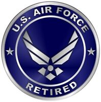 US Air Force Retired Car Wall Window Vinyl Decal Sticker Military