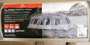 Ozark Trail 20 x 10ft. Dark Rest Instant Cabin Tent for 12 Person, Grey