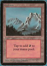Mountain (B Snowy) Alpha HEAVILY PLD Basic Land MAGIC CARD (ID# 105622) ABUGames