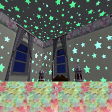 100pcs Luminous Star Stickers Art Decals Wall Door Window Home Decor Accessories
