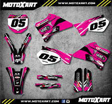 DIGGER  PINK STYLE decals Fits Yamaha YZ 250  1996 - 2001 Full Custom Graphics
