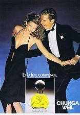 PUBLICITE ADVERTISING 114 1979 WEIL parfum Chunga