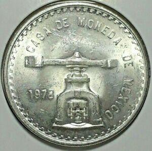1978 Mexico Onza Casa De Moneda Wide Spacing Type 1 Nice Condition Key Date