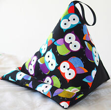 BRIGHT OWLS  Resting pillow for iPad Kindle Tablet Book cushion beanbag bean bag