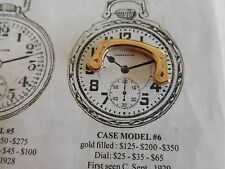 16 SIZE HAMILTON YELLOW POCKET WATCH BOW FOR a  MODEL 6 992 992E 992B RAILROAD