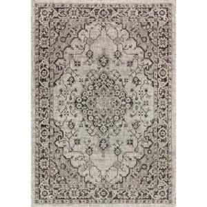 Indoor/Outdoor Area Rug Rozzeta Gray/Teal 7 ft. 9 in. x 10 ft. Textured Weave Bo