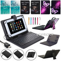 For Nextbook Ares 8A NX16A8116 Tablet 2017 USB Keyboard Leather Case Cover